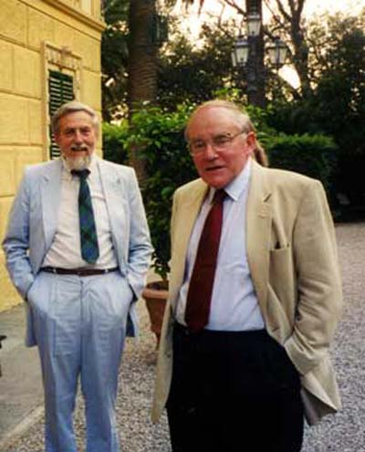 John Dash and Martin Fleischmann at ICCF8 in 2000