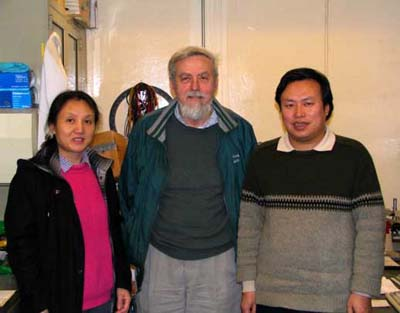Qiongshu Wang, John Dash and Wu-Shou Zhang in 2005 (courtesy of Qiongshu Wang).